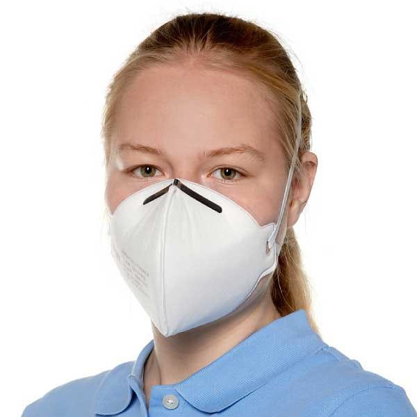Die Atemschutzmaske ist einsatzbereit.